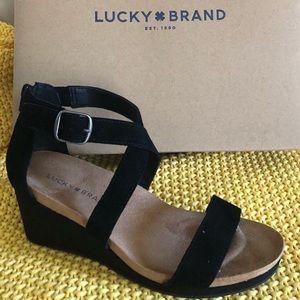 Lucky Brand Black Wedges